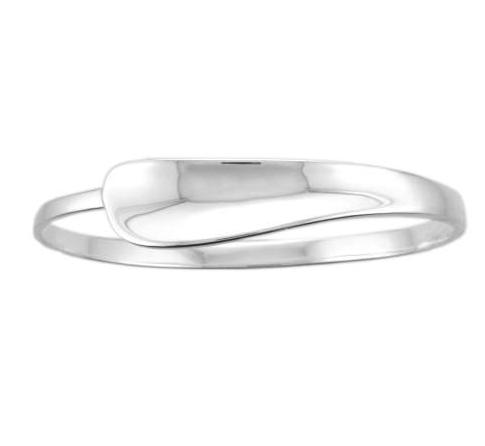 Silver Concave Graduated Curve Bangle