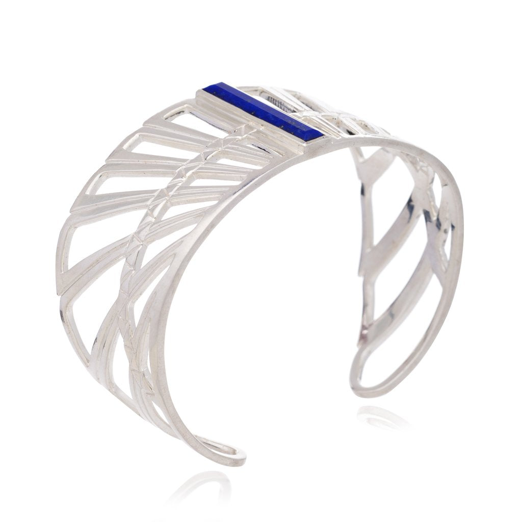 Silver Wings of Freedom Cuff Bangle - Andrew Scott