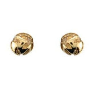 Silver Yellow Gold Plated Flower Ball Earrings - Andrew Scott