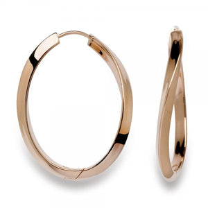 Silver Rose Gold Plated Twist Hoops