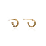 Silver Gold Plated Mini Stepped Hoop Earring