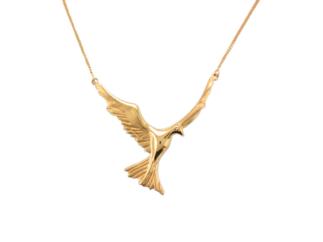 Silver with Yellow Gold Plated Bird Necklace - Andrew Scott