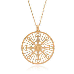 Silver Gold Plate Key of Life Medallion Necklace - Andrew Scott