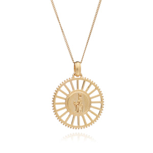 Silver Gold Plate Queen of Revelry Medium Medallion