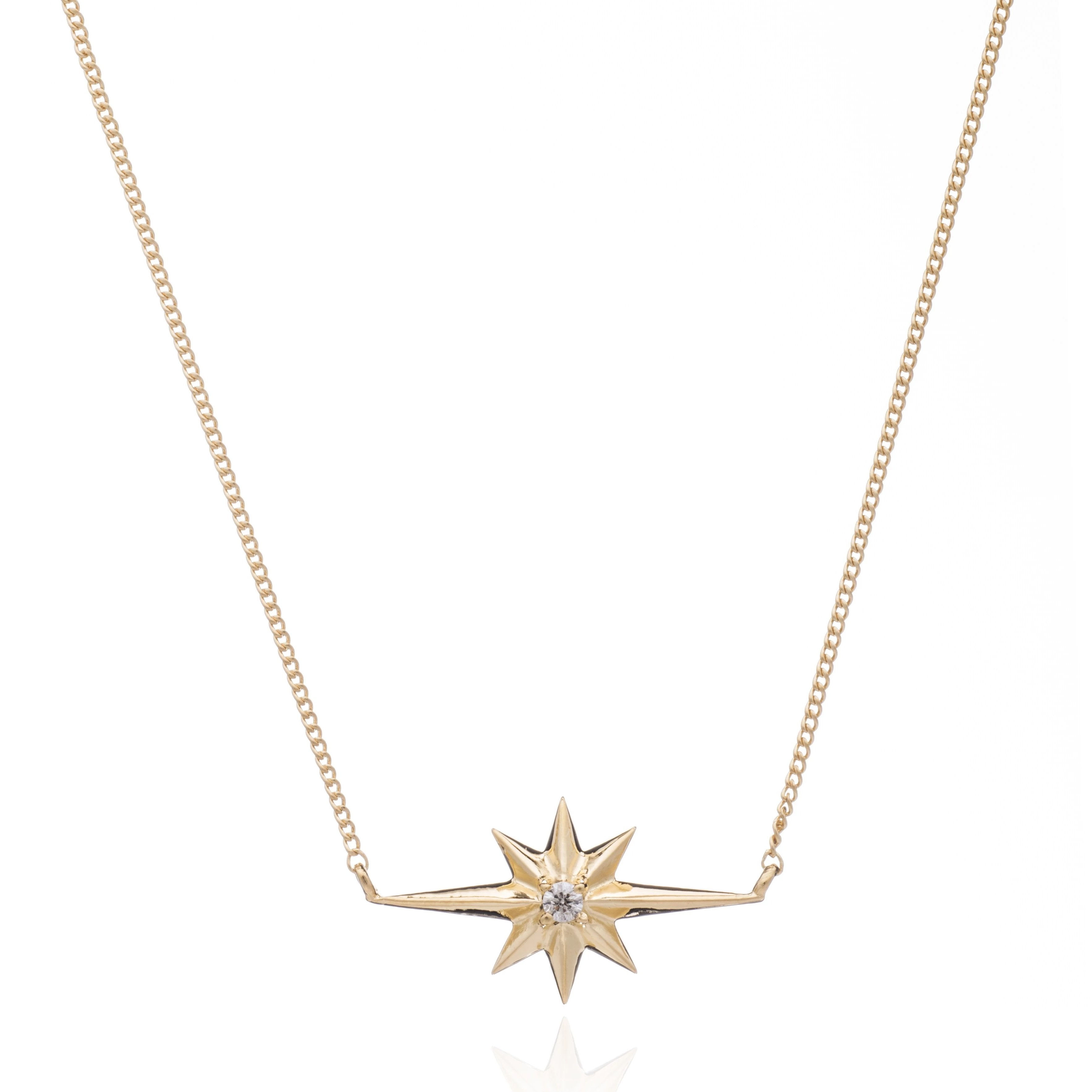Silver Gold Plate Shooting Star Necklace - Andrew Scott