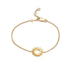 Silver Gold Plated Sunrays Bracelet