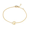 Silver Gold Plate Hexagon Bracelet