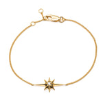 Silver Gold Plated Shooting Star Diamond Bracelet.