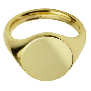 18ct Yellow Gold Oval Signet Ring - Andrew Scott
