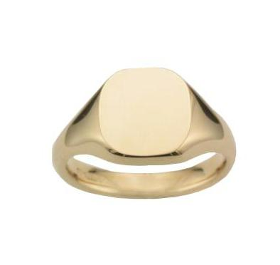 18ct Yellow Gold Soft Square Tapered Signet Ring - Andrew Scott