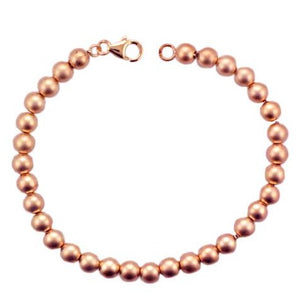 Silver Rose Gold Plated Satin Bead Bracelet