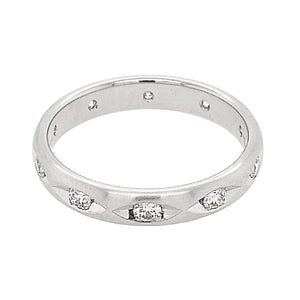 Platinum Diamond Marquise Cut Out Full Eternity Ring