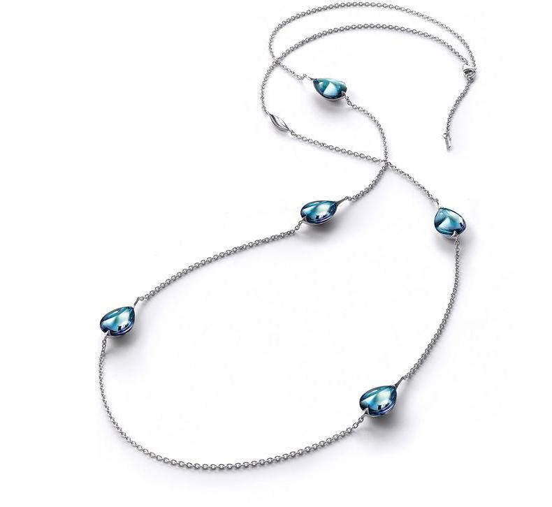 Baccarat Fleurs De Psydelic Aqua Mirror Crystal Long Necklace - Andrew Scott