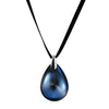 Baccarat Psydelic Riviara Blue Pendant on Ribbon