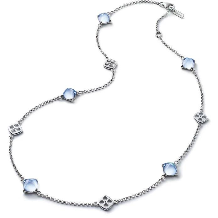 Baccarat Silver Medicis Aqua Mirror Crystal Necklace - Andrew Scott