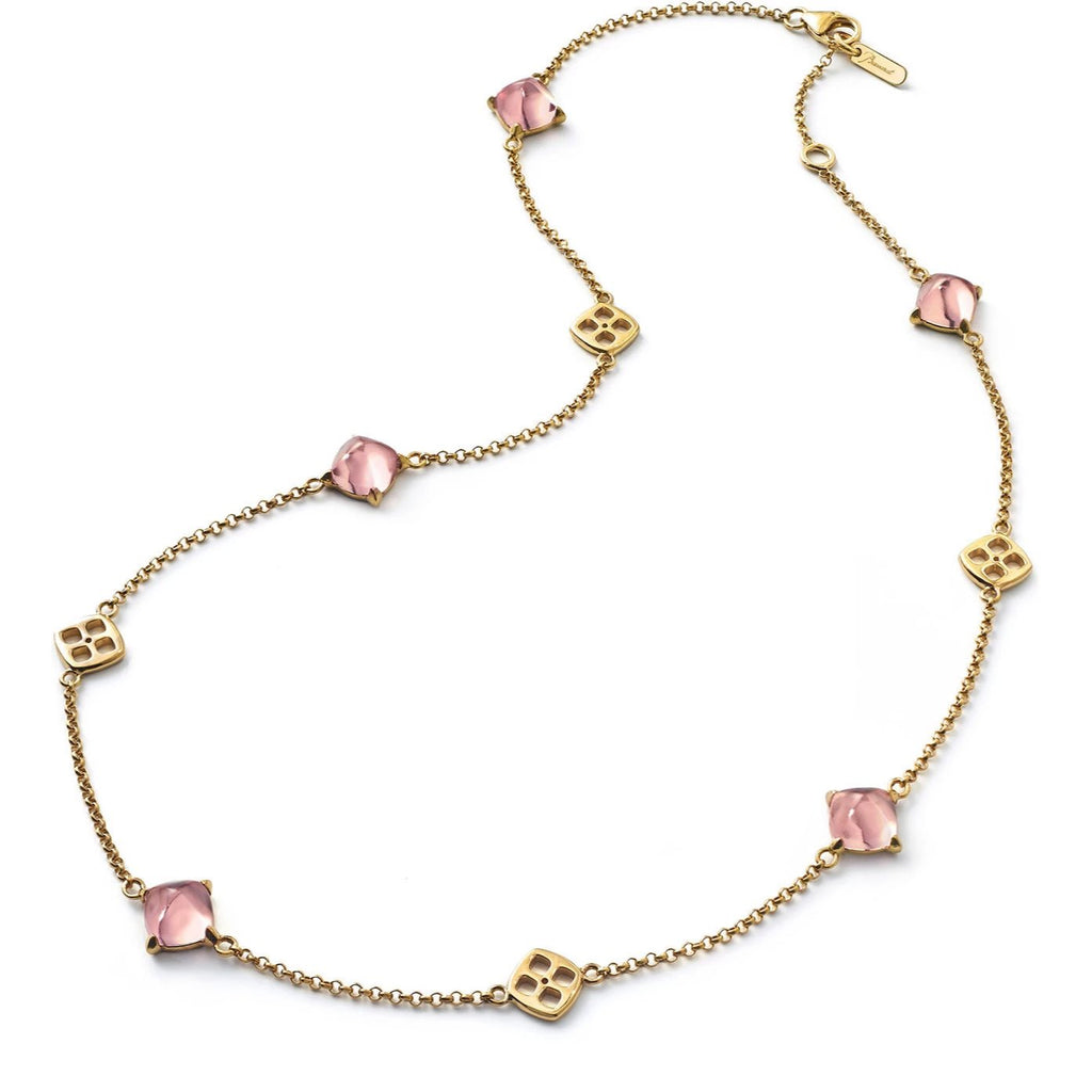 Baccarat Silver Vermeil Medicis Rose Mirror Crystal Necklace - Andrew Scott