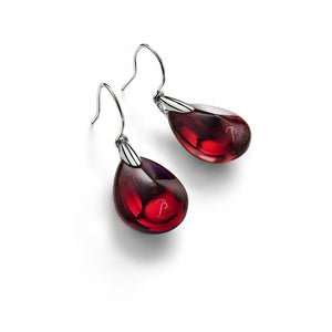 Baccarat Psydelic Iridescent Red Crystal Drop Earrings - Andrew Scott