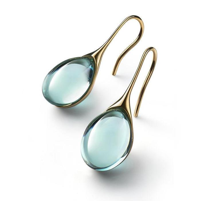 Baccarat Galea Yellow Gold Vermeil Turquoise Crystal Earrings - Andrew Scott