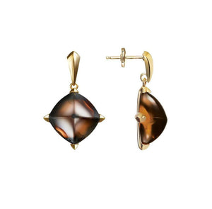 Baccarat Vermeil Medicis Brown Madore Drop Earrings - Andrew Scott