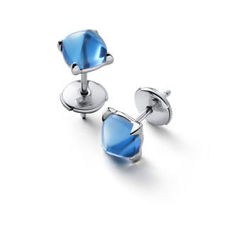 Baccarat Silver Medicis Riviera Stud Earrings - Andrew Scott