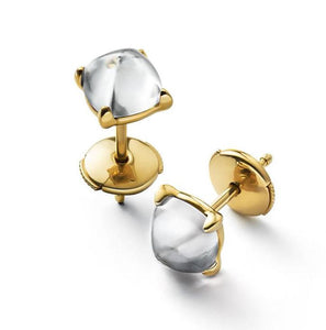 Baccarat Medicis Vermeil Clear Mirror Stud Earrings - Andrew Scott