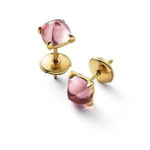 Baccarat Medicis Silver Vermeil Rose Mirror Earrings - Andrew Scott