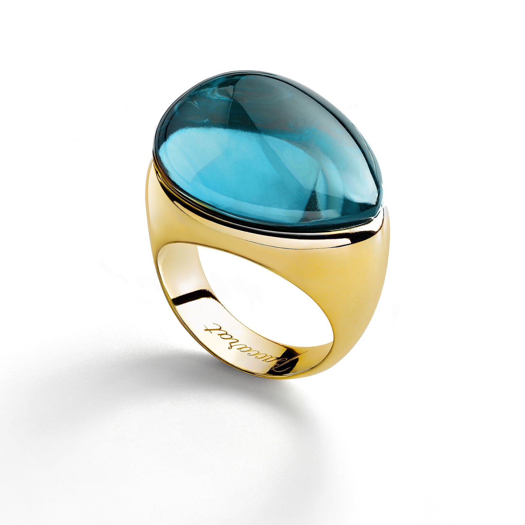 Baccarat Galea Vermeil Turquoise Ring - Andrew Scott