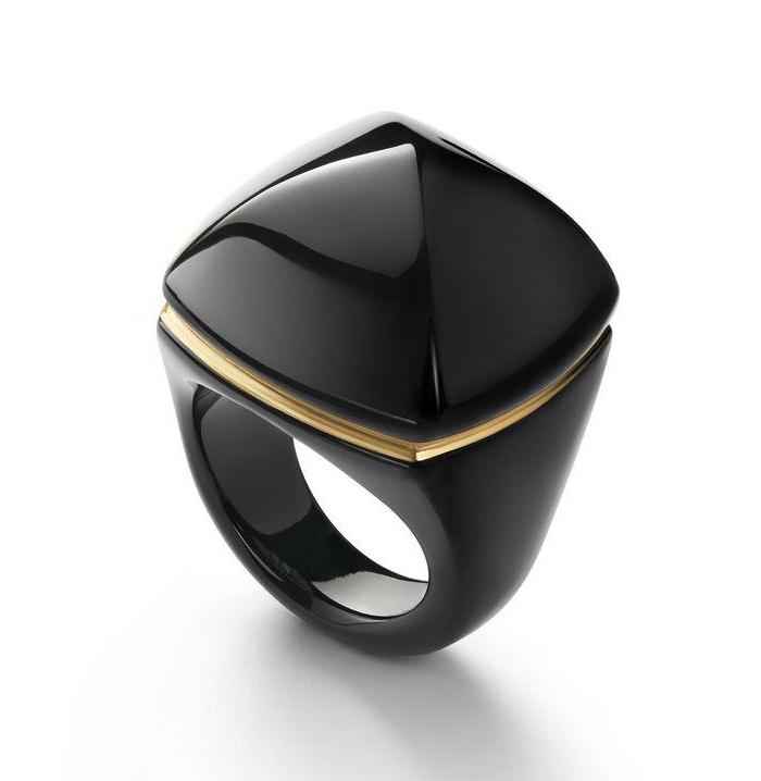 Baccarat Medicis Pop Black Crystal Ring - Andrew Scott