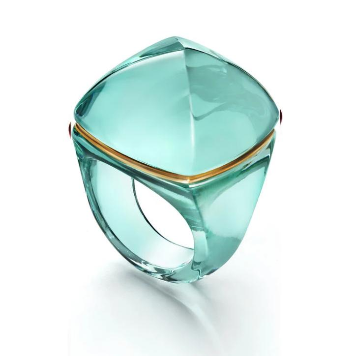 Baccarat Medicis Pop Turquoise Crystal Ring - Andrew Scott