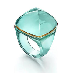 Baccarat Medicis Pop Turquoise Crystal Ring