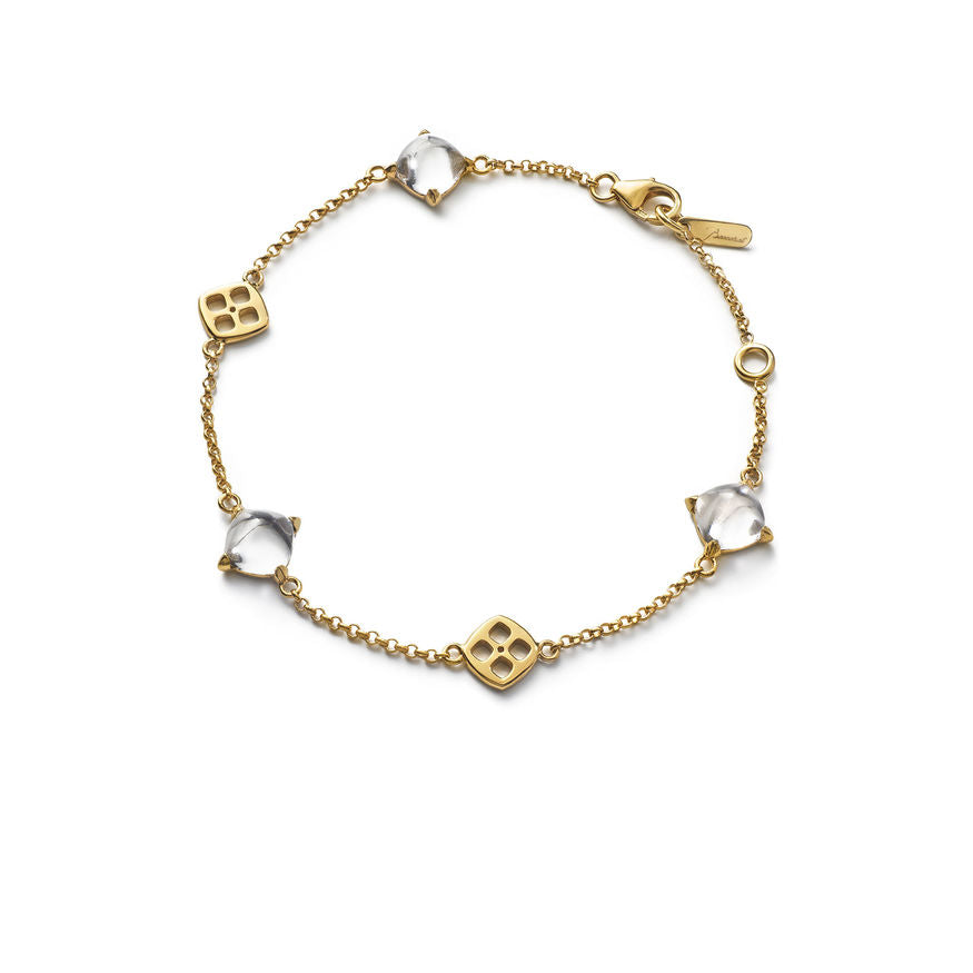 Baccarat Silver Vermeil Medicis Clear Mirror Crystal Bracelet - Andrew Scott