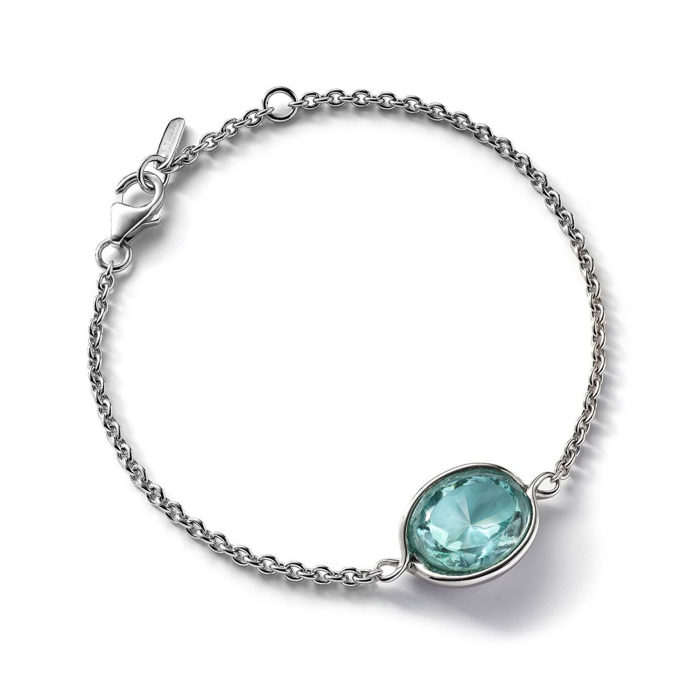 Silver Croise Turquoise Crystal Bracelet - Andrew Scott