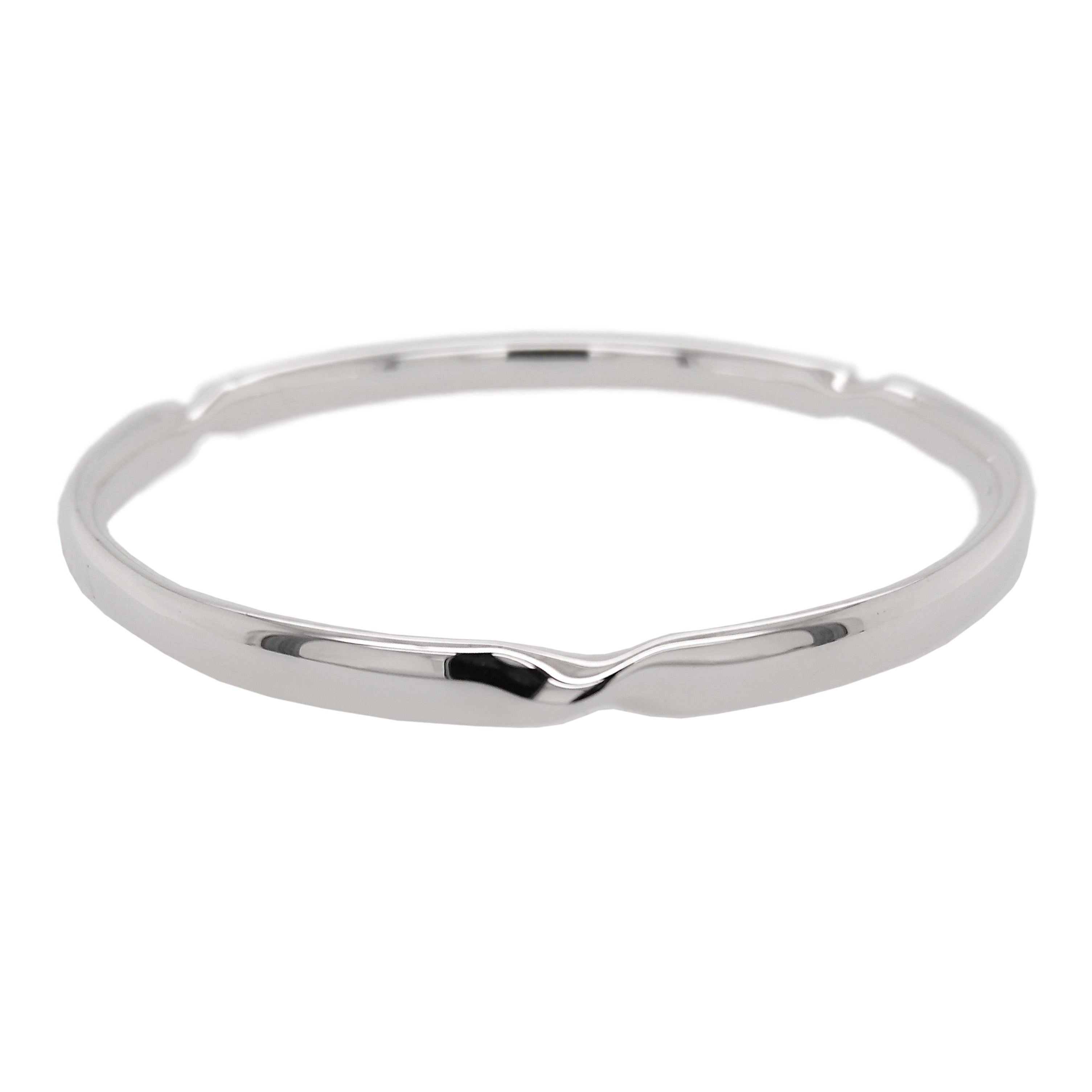 Silver Triple Twist Bangle