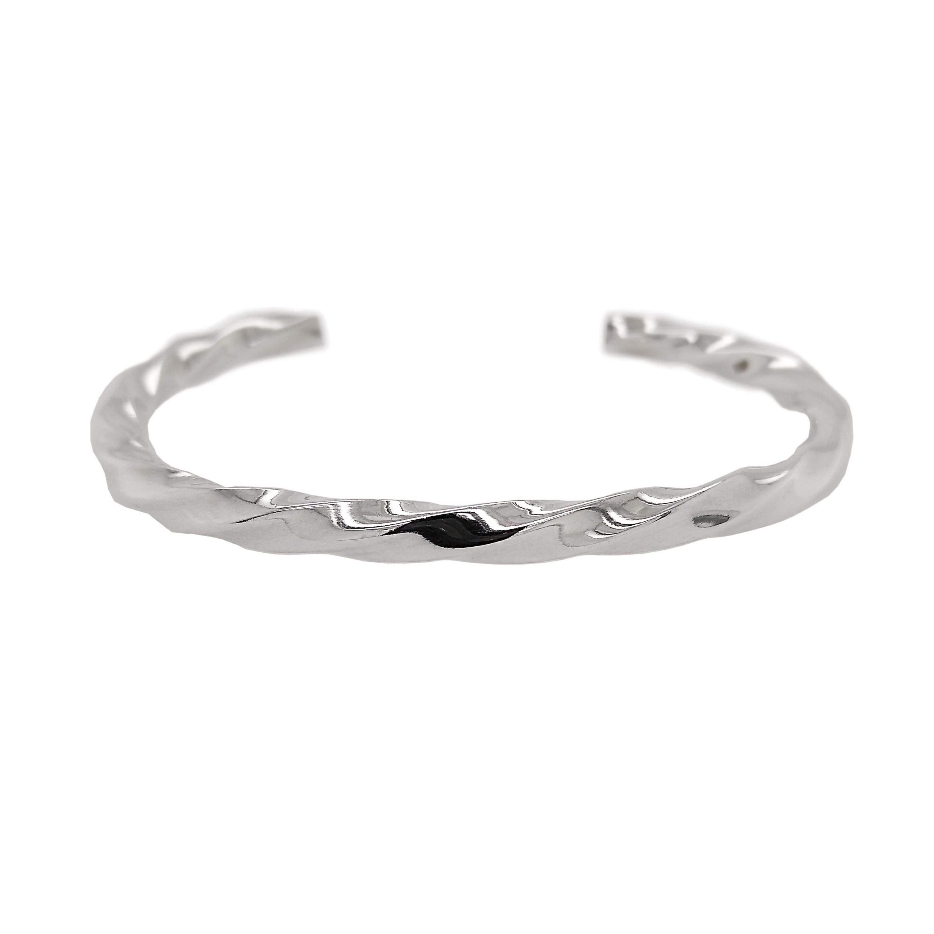 Silver Twisted Torque Bangle