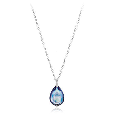 Baccarat Fleurs De Psydelic Large Aqua Mirror Crystal Necklace - Andrew Scott