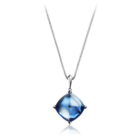Baccarat Medicis Riviera Crystal Large Pendant on Silver Chain - Andrew Scott