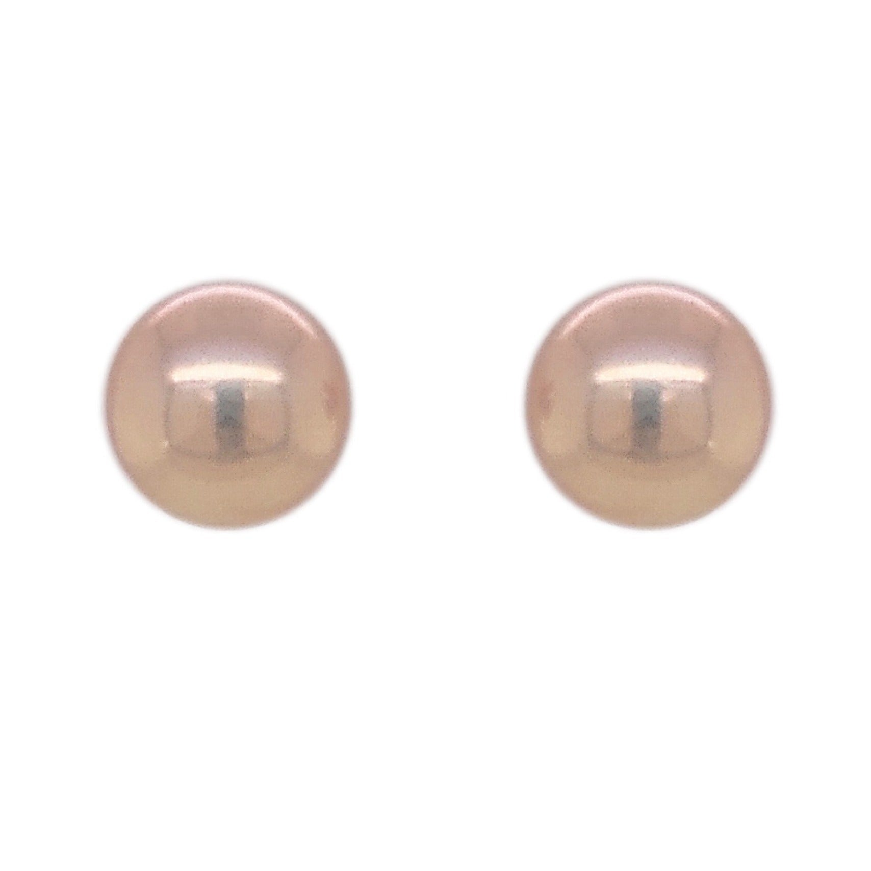 9ct Yellow Gold Natural Freshwater 6.0mm Bouton Stud Earrings