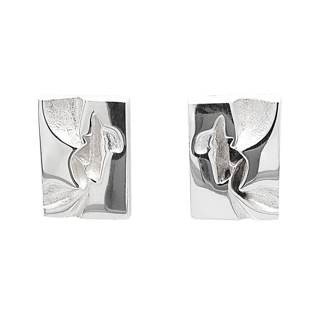 Silver Aallott Stud Earrings by Lapponia of Helsinki