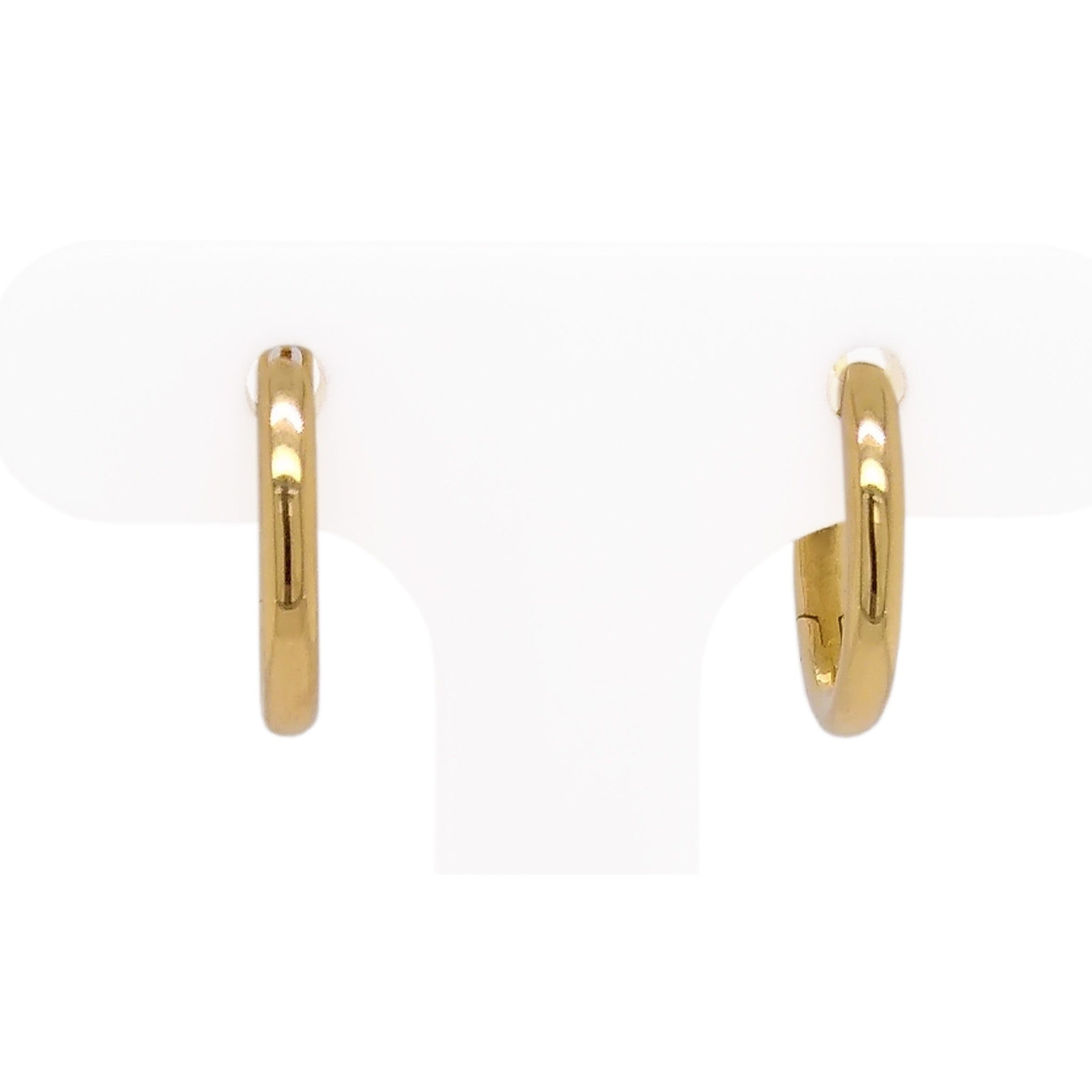 18ct Yellow Gold Oval Hoops