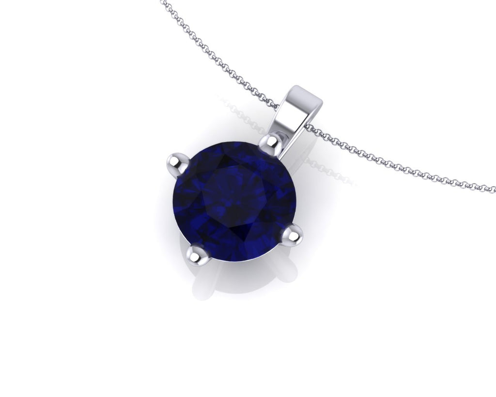 18ct White Gold Lotus Ceylon Sapphire 0.65ct Pendant & Chain - Andrew Scott