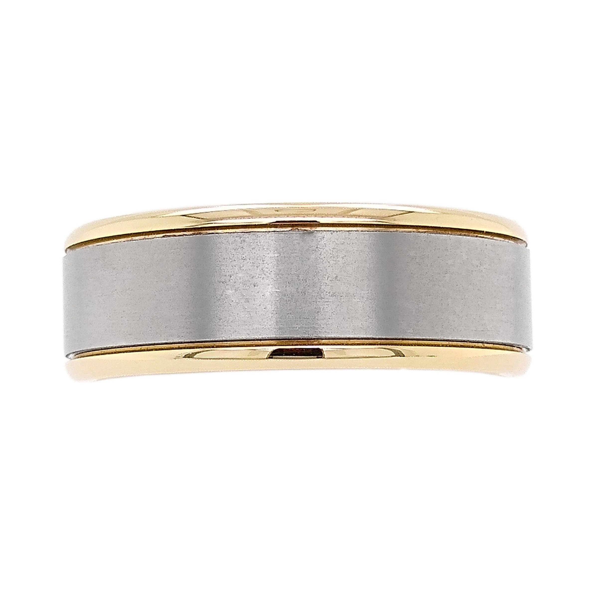 9ct Yellow Gold & Titanium Wedding Ring