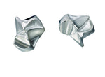 Silver Nastassia Textured Stud Earrings by Lapponia of Helsinki - Andrew Scott