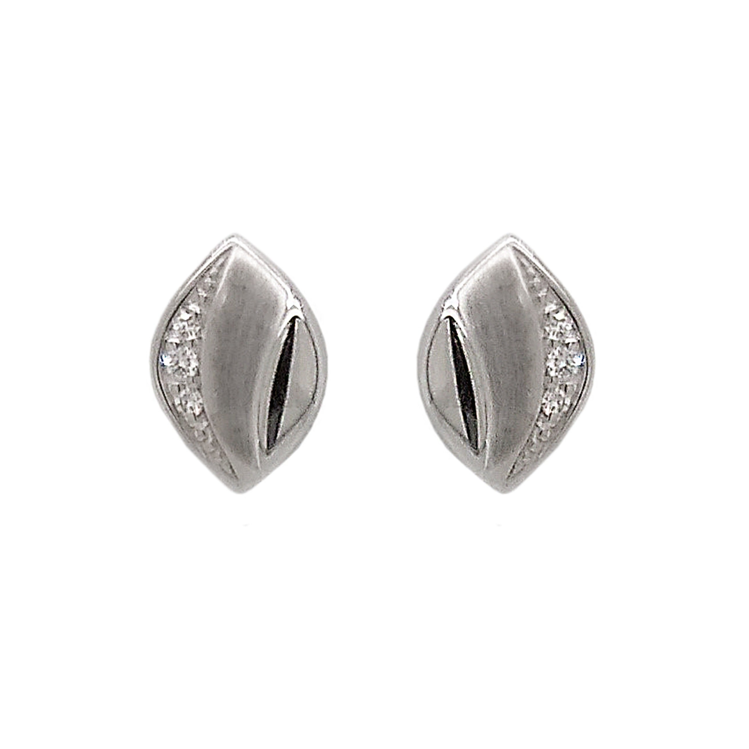9ct White Gold Marquise Diamond Stud Earrings
