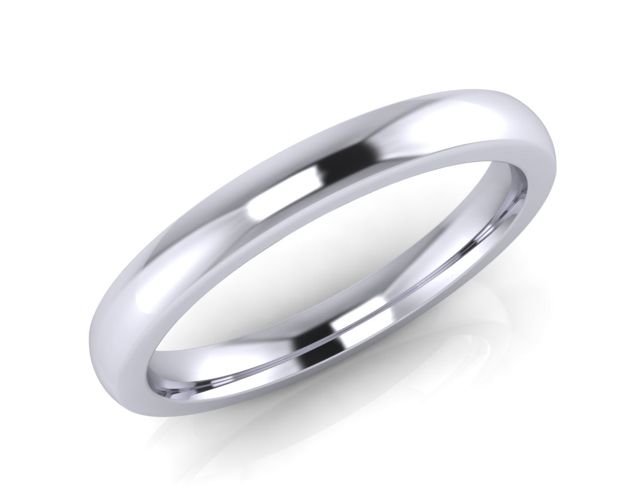 Platinum Midi-Ellipse Wedding Ring 2.5mm Size L - all ring sizes available - Andrew Scott
