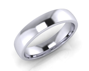 Platinum Midi-Ellipse Wedding Ring 5.0mm Size T - all ring sizes available
