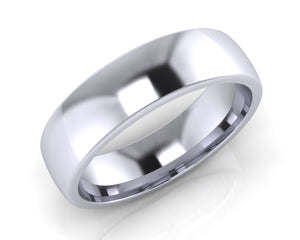 Platinum Midi-Ellipse Wedding Ring 6.0mm Size T - all ring sizes available - Andrew Scott