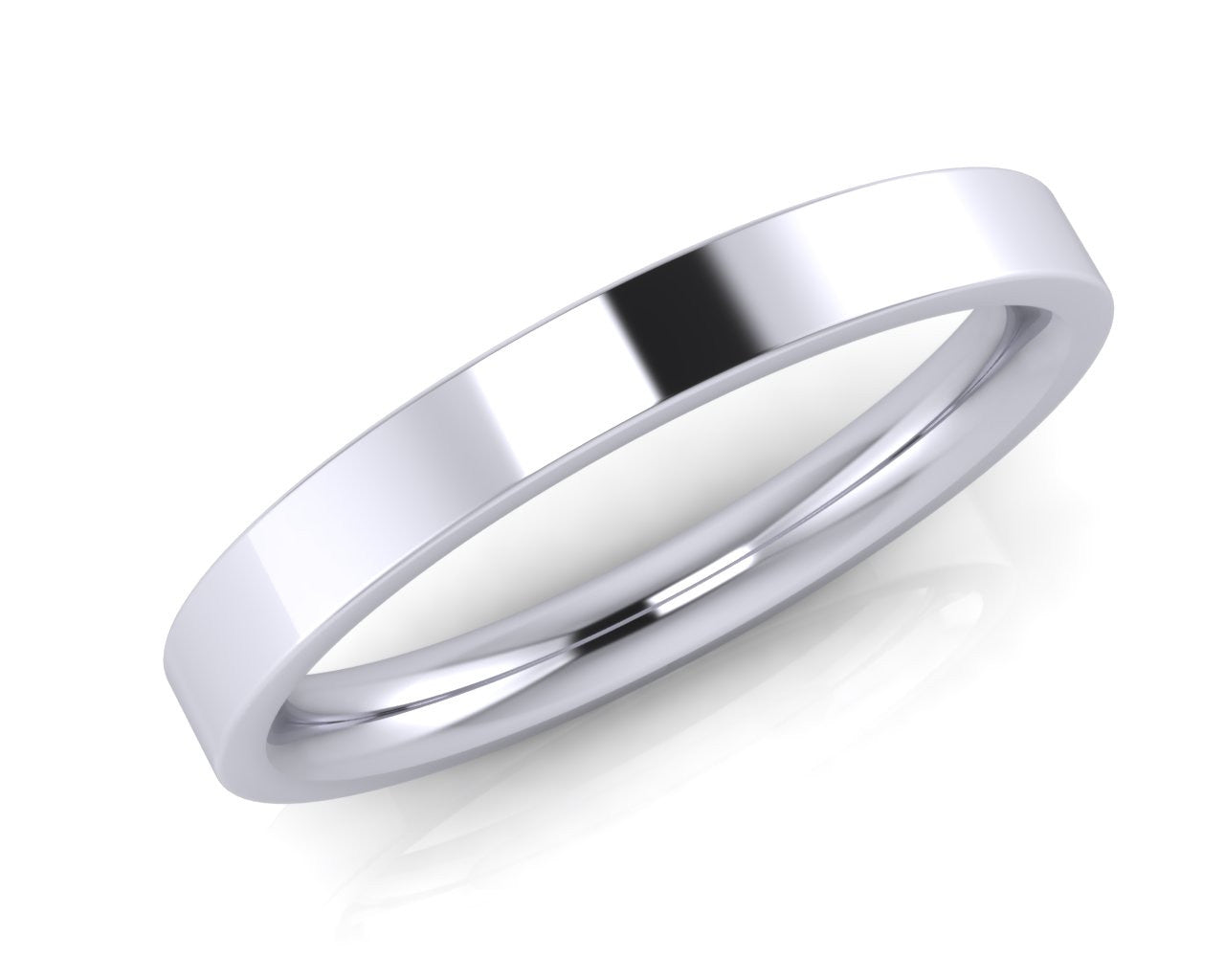 Platinum Demi-Ellipse 2.5mm Wedding Ring - Andrew Scott