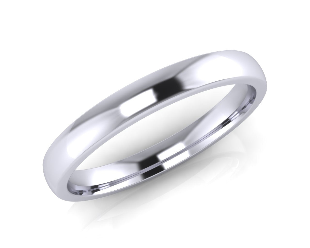 Platinum Mini-Ellipse Wedding Ring 2.5mm Size L - all ring sizes available - Andrew Scott