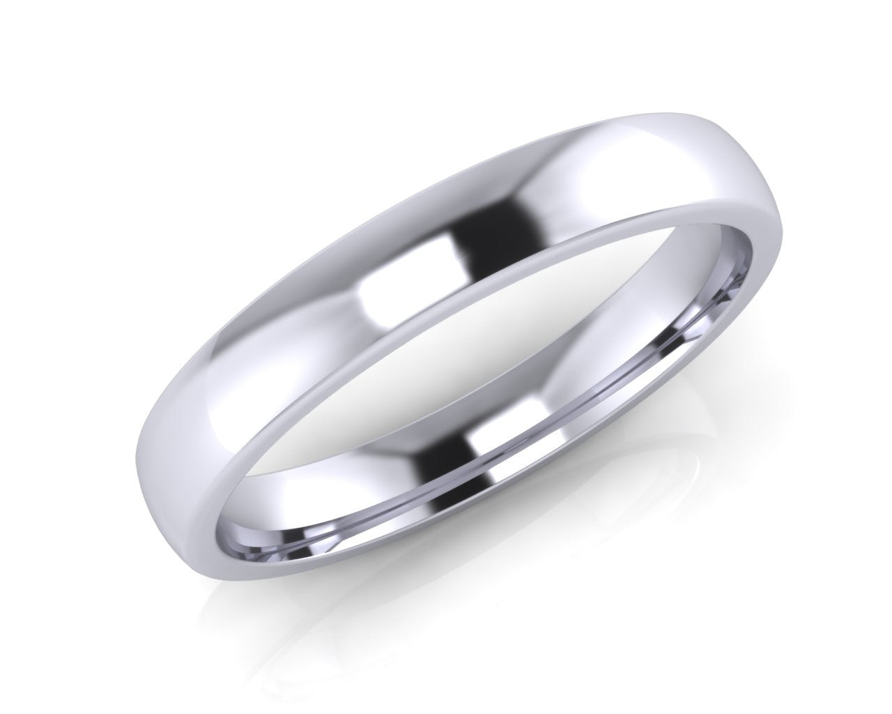 Platinum Mini-Ellipse Wedding Ring 3.0mm Size L - all ring sizes available