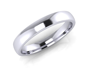 Platinum Mini-Ellipse Wedding Ring 3.0mm Size L - all ring sizes available - Andrew Scott